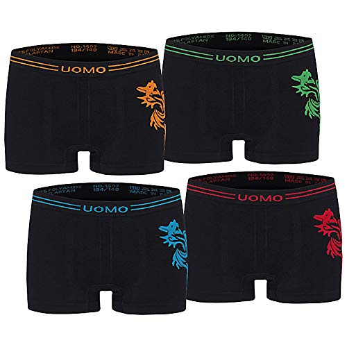 Kids Fashion Lounge Jungen Boxer Uomo 4er schw/158-164