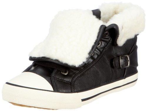 ESPRIT Benny Fur Lu Bootie U12711, Unisex - Kinder, Sneaker, Schwarz (black 001), EU 33