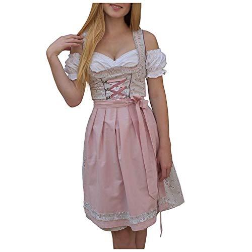 Vrouwen Exotische Kleding Sexy Maid Cosplay Halloween Kostuum Dames Korte Mouw Kouder Schouder Lace Up Bloemen Print Jurk met Schort en Blouse