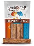 "Jack&Pup 6-inch Premium Grade Odor Free Bully Sticks Dog Treats [Jumbo-Thick Size] - 6"" Long Natural Chews Dog Treat – 60% Longer Lasting Bully Stick (1 Bag of 6 Bully Sticks) Packaging May Vary"