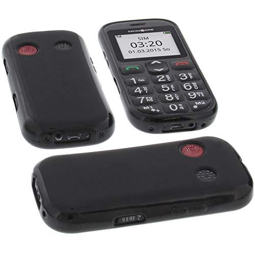foto-kontor Tasche für Swisstone BBM 320C Hülle Gummi TPU Schutz Handytasche schwarz