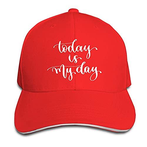 Hdadwy Hoy es mi día Sombreros de papá Ajustables Gorra de Camionero Gorra de Visera para Exteriores Sandwich