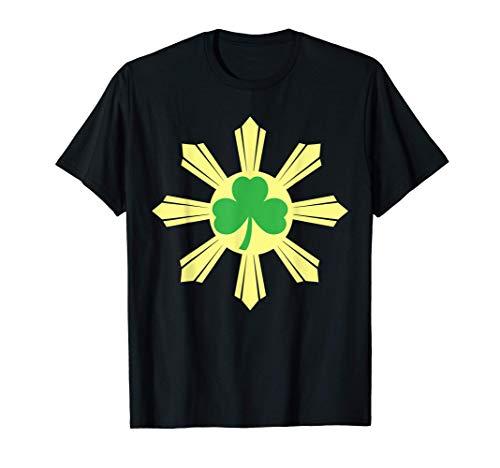 St. Patricks Day Shamrock Irish Ireland Filipino Flag T-Shirt