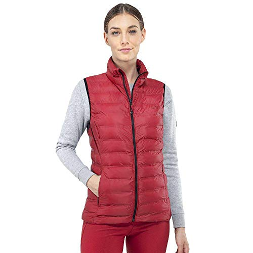 Equiline Ambra Ladies Padded Vest Lipstick Red/Large