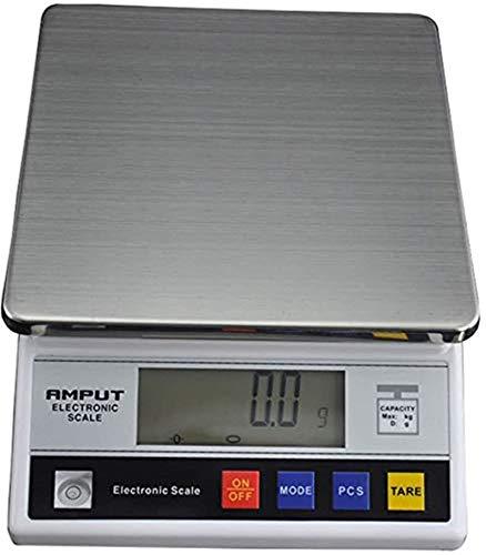 Balance de laboratoire - Balance de précision numérique - Balance électronique de haute précision - Balance de cuisine avec exfoliation, mémoire et affichage d'erreur - 7,5 kg / 0,1 G LCD