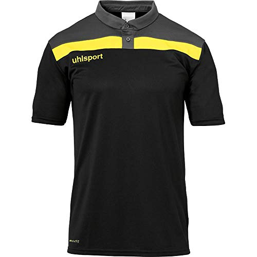 uhlsport Herren Offense 23 Polo Shirt Fussball Trainingsbekleidung, azurblau/Marine/limonenge, XXL