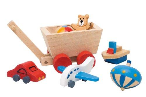 Goki 51938 - Accessoires Kinderzimmer, 7-teilig, Puppenhausmöbel