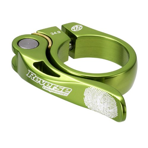 Reverse Long Life Sattelklemme mit Schnellspanner 34.9mm hell grün