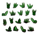Crystal Garden Model Parts, Small Translucent Green Resin, for Wargames, Fairy Gardens, Trains