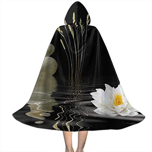 Amanda Walter Piedras Calientes Zen Stone para niños con Capa con Capucha de Loto asiático, Bruja, Halloween