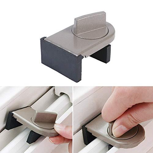 PoeHXtyy 1 STÜCK Verstellbare Tür Fenstersperre Stopper Keil Sicherheit Diebstahlsicherung Fenster Schiebeflügel Türschloss