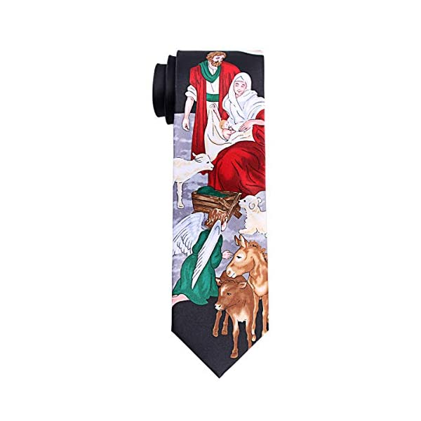 Nativity Scene Tie Mens Manger Neckties by Mumusung