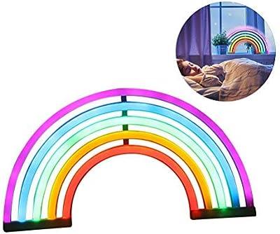 Suszian LED Regenbogen Zeichen geformte Dekor Licht, niedlichen Regenbogen Licht Neon LED Lampe Regenbogen Nachtlicht Raum Dekor, Kinderzimmer, Wohnzimmer, Hochzeitsfeier Dekor