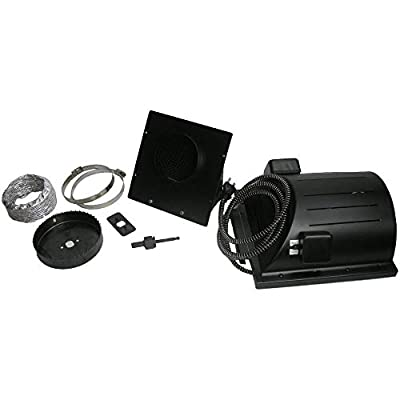 "Akoma Heat-N-Breeze Dog House Heater and Fan Black 10"" x 10"" x 4.5"" (Renewed)"