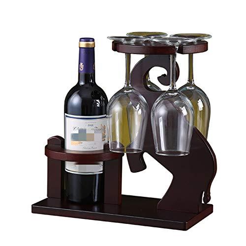 JTRHD Casier à vin de Bouteille Séchoir en Verre de vin et Porte-Bouteille pour Stockage pour Armoire/Placard/comptoir (Couleur : Photo Color, Size : Medium)