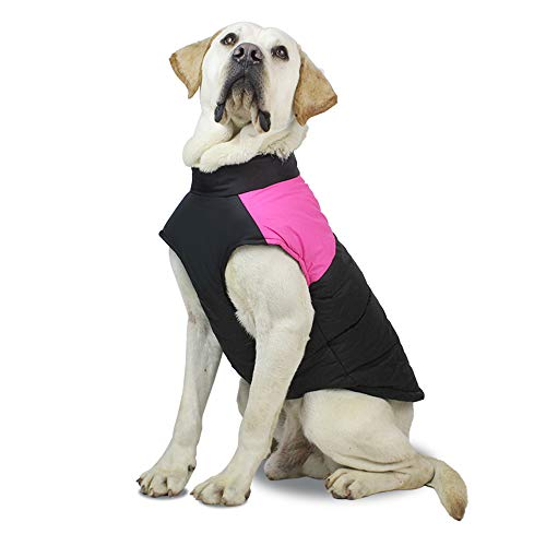 SunteeLong Dog Winter Cotton Coat Waterproof Windproof Dog Jacket Warm Dog Vest Cold Weather Pet...