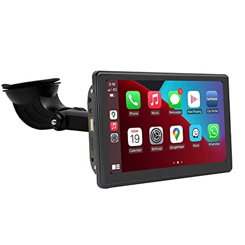 IYING Ricevitore stereo portatile per auto Touchscreen da 7 pollici CarPlay cablato/wireless integrato e Android Auto, navigatore GPS per auto, audio per auto con Bluetooth Trasmettitore FM
