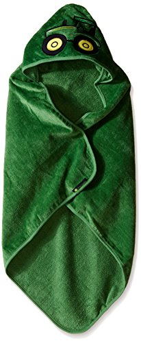 John Deere Baby Boys' Tractor Hooded Towel, Green, One Size
