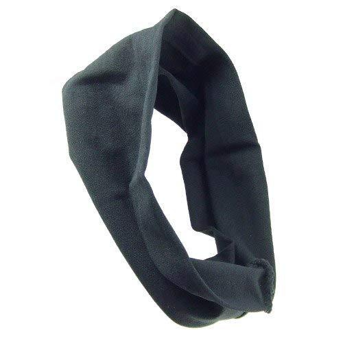 615 – 002 – Bandeaux pour Cheveux – Bandeau cheveux microfibre cm 10 x 19 – Made in Italy – Bandeaux pour Cheveux Lunghezza cm. 19 noir