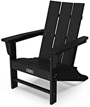 Adirondack Chair Plastic Outdoor Classic Chair Weather Resistant for Patio Garden-Black