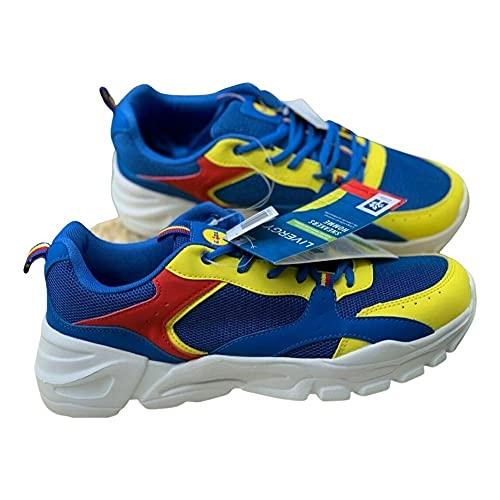Lidl Zapatillas de tamaño, azul amarillo, 39 EU