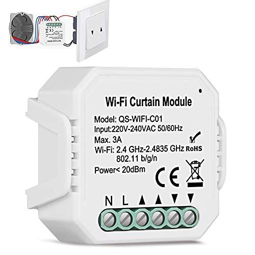 TEEKAR WiFi Rolladen Zeitschaltuhr Relais Modul, Prozent Funktion WLAN Rolladenschalter mit Timer-Funktion, Voice APP Steuerung Rollladenschalter Modul Kompatibel mit Tuya, Alexa und Google Home