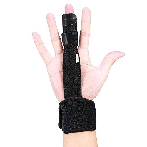 Finger Splint, verstellbare Aluminium Index Mittelfinger Schiene Hand Unterstützung Recovery Brace Protection Injury Aid Tools Finger Extension Fingerschiene Verlängerung für Trigger Finger