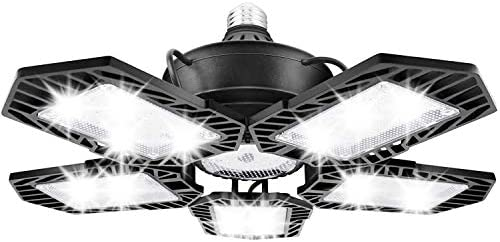 150W Led Garage Lights Daylight LED High Bay Lights with 5 Adjustable Panels 15000LM E26 Deformable product image