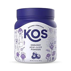 KOS Organic Acai Powder - Natural Antioxidant Powder - Polyphenol Abundant, Unsweetened, Gluten-Free, Non-GMO - Organic… |