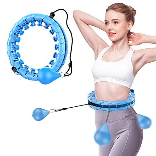 Cihely Hula Hoops Hullahub - Aro para adelgazar, para adultos y niños, ajustable, con puntos de masaje y 24 piezas extraíbles, ideal para entrenamiento de pérdida de peso