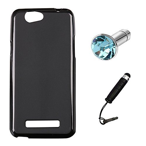 Lusee Silikon TPU Hülle für WileyFox Spark + Plus/Spark 5.0 Zoll Schutzhülle Case Cover Protektiv Silicone schwarz