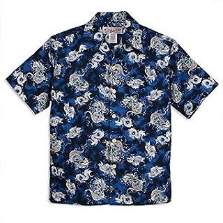 HULA KEIKI(フラケイキ)アロハシャツ【リトルドラゴン】HK-101/BLUE