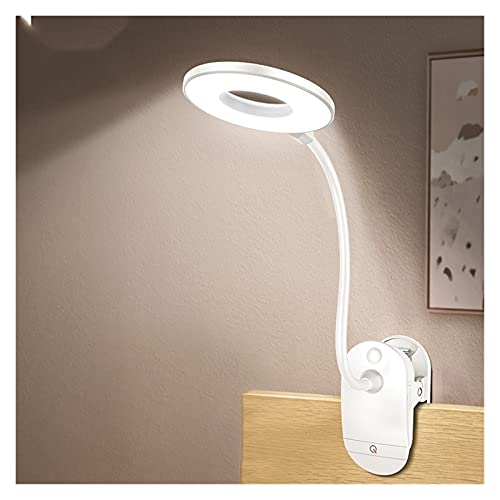 LáMpara De Oficina Lámpara de escritorio LED, clip de tacto de la lámpara de escritorio LED, Luz de mesa USB recargable, Lupa de estudio Lupa, Para leer, Estudiar, Trabajar Adecuado Para El Hogar Y La