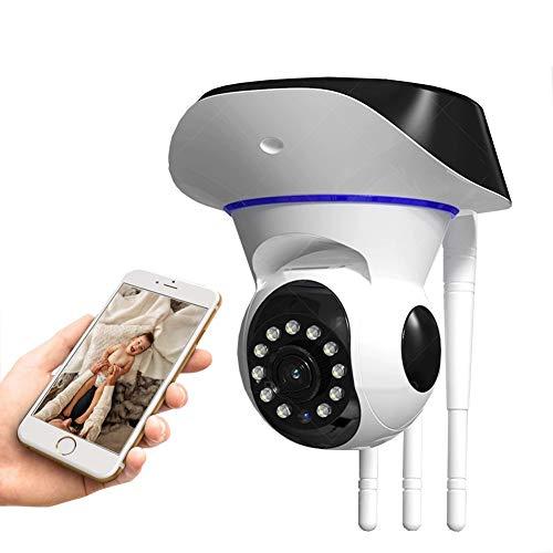 ip camera with ir nights ZJ 1080P IP Camera Wireless Home Security Camera IR Night Vision CCTV WiFi IP Camera Baby Monitor 3 Antennas Strong Signal[16GSD Card Included]