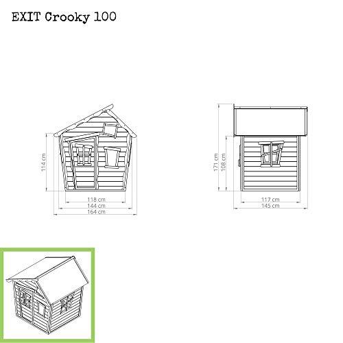 EXIT Crooky 100 Holzspielhaus - graubeige