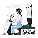QYQYMJ Parasol para Scooter, Capota para Motocicleta, Apto para vehículos eléctricos con retrovisores (Size : No Side Block)