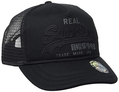 Superdry Vintage Logo Trucker Gorra de béisbol, Negro (Black 02a), Einheitsgröße para Hombre