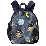 Mochilas Infantiles, Bolsa Mochila Niño Mochila Bebe Guarderia Mochila Escolar con Casco Gato Astronautas para Niños De 3 A 6 Años De Edad