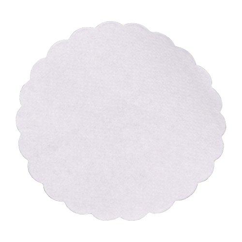 Wertpack 1000x Tropfdeckchen, Papier, Weiß, Bogenkante, rund, saugfähig, 9 cm Durchmesser