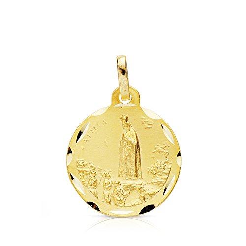 Medalla Virgen de Fátima 9 Ktes 16mm