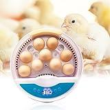 TELAM Incubatrice per uova - Uova da cova automatica a 9 celle Home digitale con un pulsante per pollame con misurazione della temperatura Luci a LED fino a 9-12 uova Pollo Anatra Oca Hatcher
