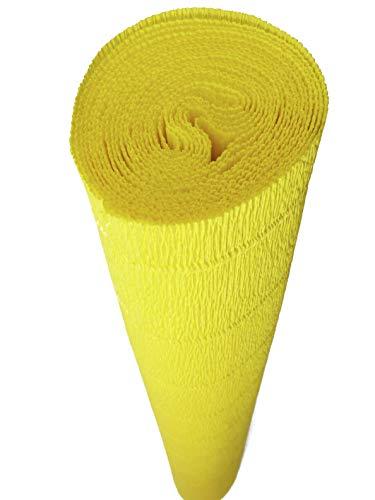 Rollo de papel crepé italiano, 180 gramos, color 575 yolk