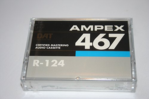 Quantegy Ampex 467 R-124 Certified Mastering Audio Tape Cassette DAT 4mm Audio 124 minutes