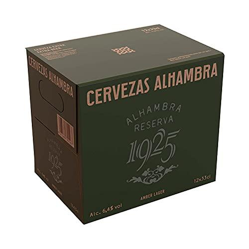 Alhambra Reserva 1925 Cerveza Dorada Lager – Pack de 12 Botellas x 33cl – 6,4% Volumen de Alcohol