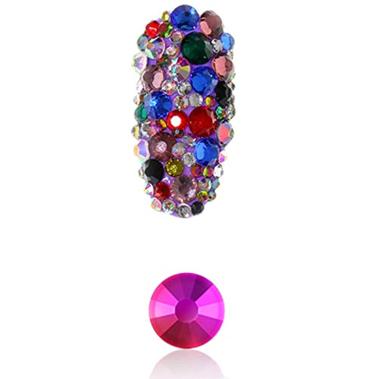 無駄コンパニオン野心的TOOGOO 1パックフラットバックガラスネイルラインストーン混合サイズSs4-Ss16ネイルアート装飾石シャイニー宝石マニキュアアクセサリー6#混色