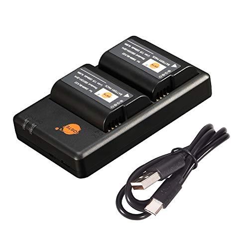 DSTE DMW-BLK22 - Batería de ion de litio y cargador compatible con Panasonic Lumix S5 DC-S5K DC-S5GK (2350 mAh/7,2 V)