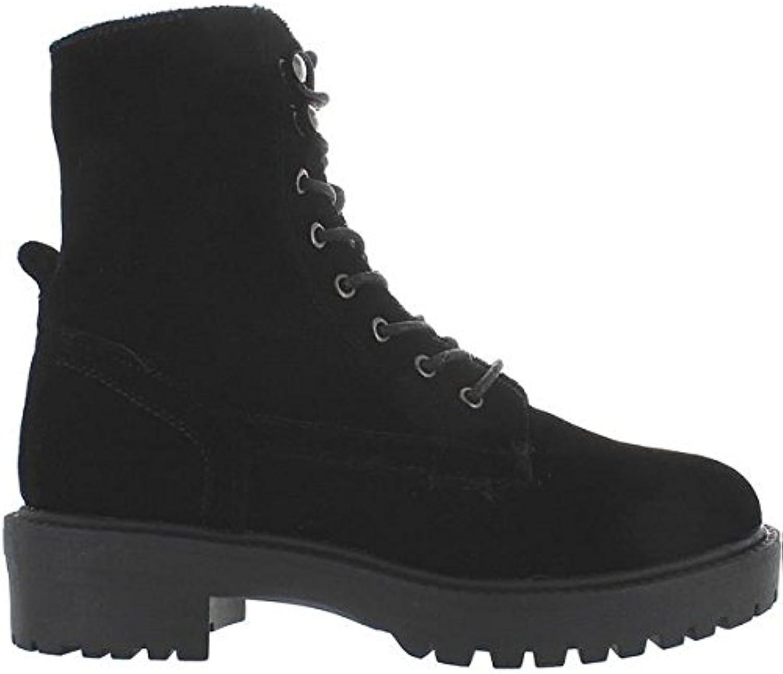 Coolway Draco - Black Velvet Combat Boot