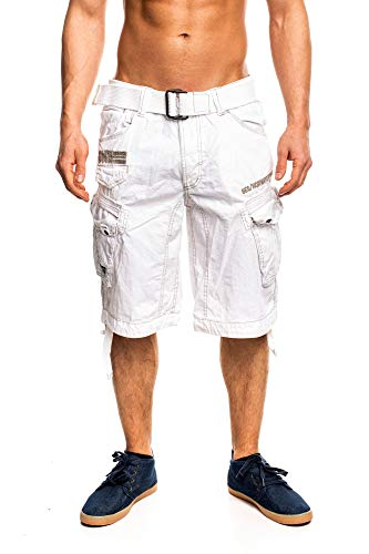 4M3 Geographical Norway People Herren Bermuda Shorts Kurze Hose Weiß XL