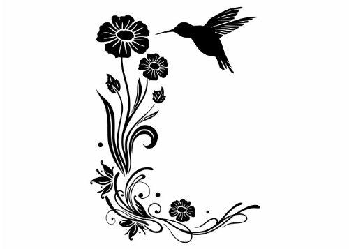 Wandtattooladen Wandtattoo - Sanfte Kolibri-Grüße 2 Größe:57x80cm Farbe: lindgrün