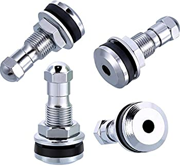 Veteran Tire and Rubber TR-416-S 1  Outer Mount Metal Valve Stem  4 Pack